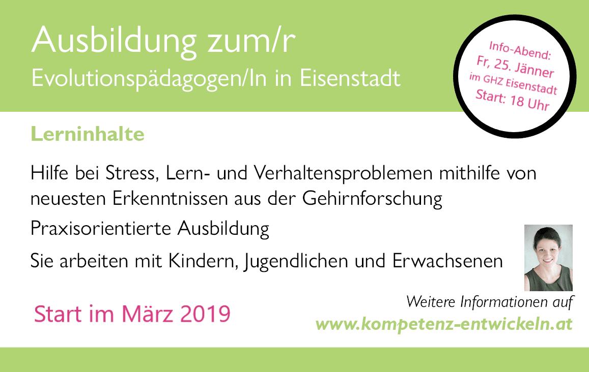 Titelbild Ausbildung Lernberater/in P.P. und Evolutionspädagoge/in im Burgenland