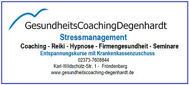 Infobanner Gesundheitscoaching Degenhardt
