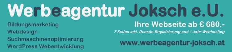 Bildungsserver Werbebanner Bildungsmarketing - Webdesign - Suchmaschinenoptimierung - WordPress Webseitenentwicklung - Werbeagentur Joksch e.U.